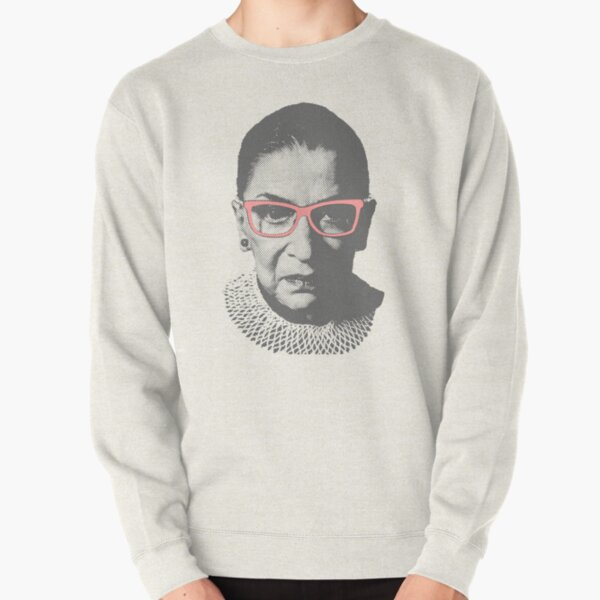 Ruth Bader Ginsburg RBG With Pink Glasses Pullover Sweatshirt