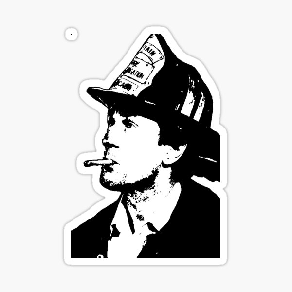 Inspecteur Rimgale - DeNiro - Backdraft Sticker