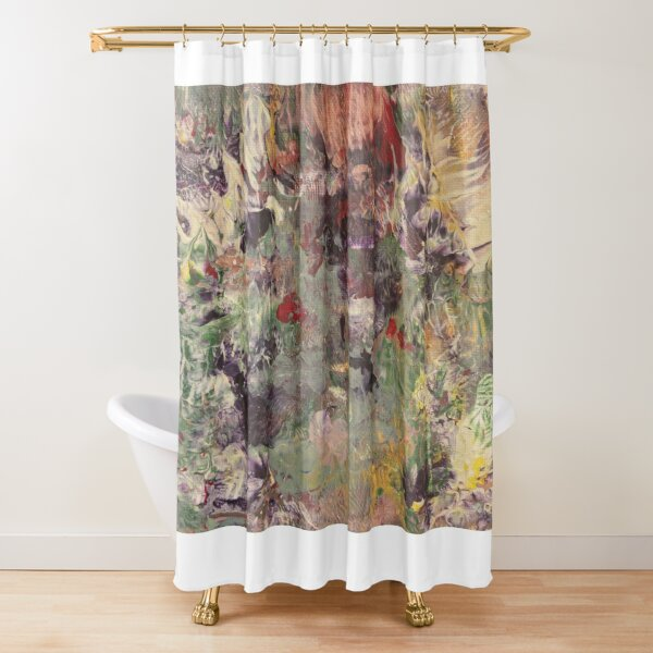 Mystery miracle dip —acrylic on canvas Shower Curtain