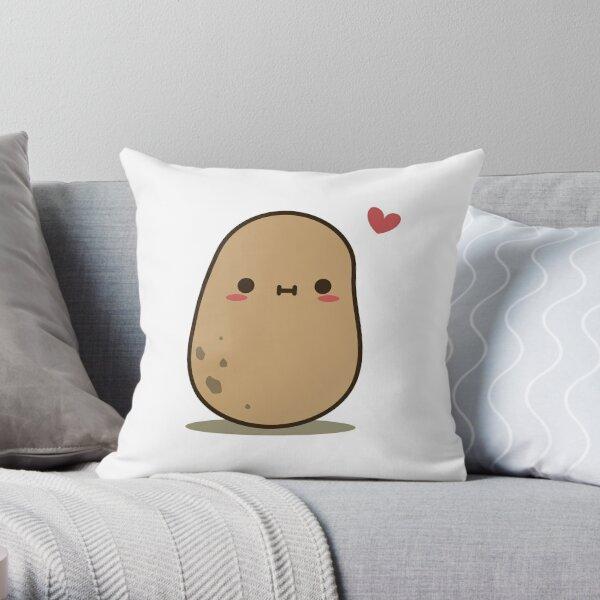 Cute Potato in love Throw Pillow