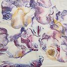 Purple and gold on parchment by Sue Kearney