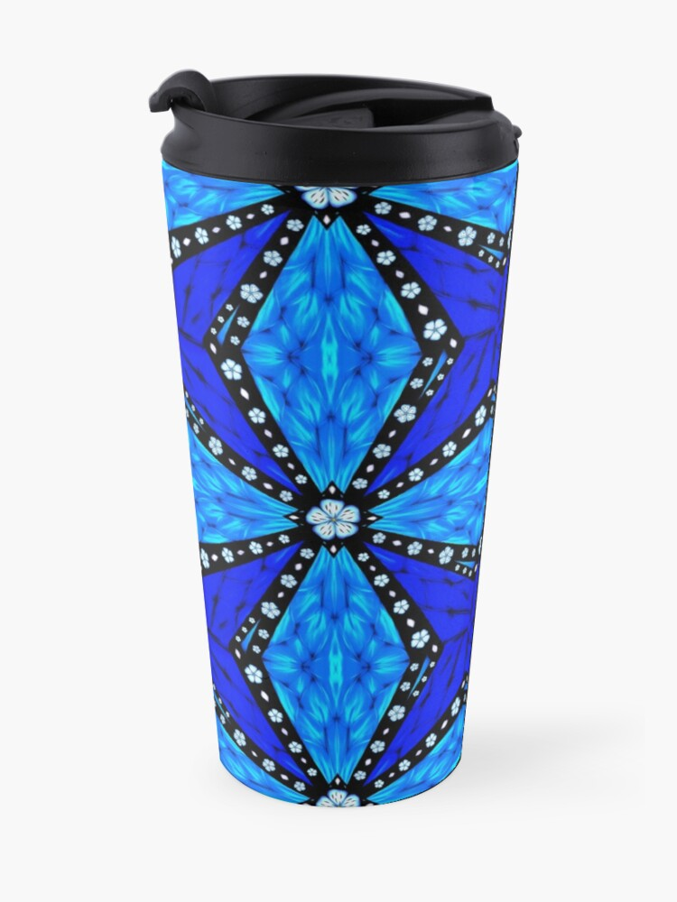 Alternate view of Onyx Beams of Flowers and Gems Travel Mug