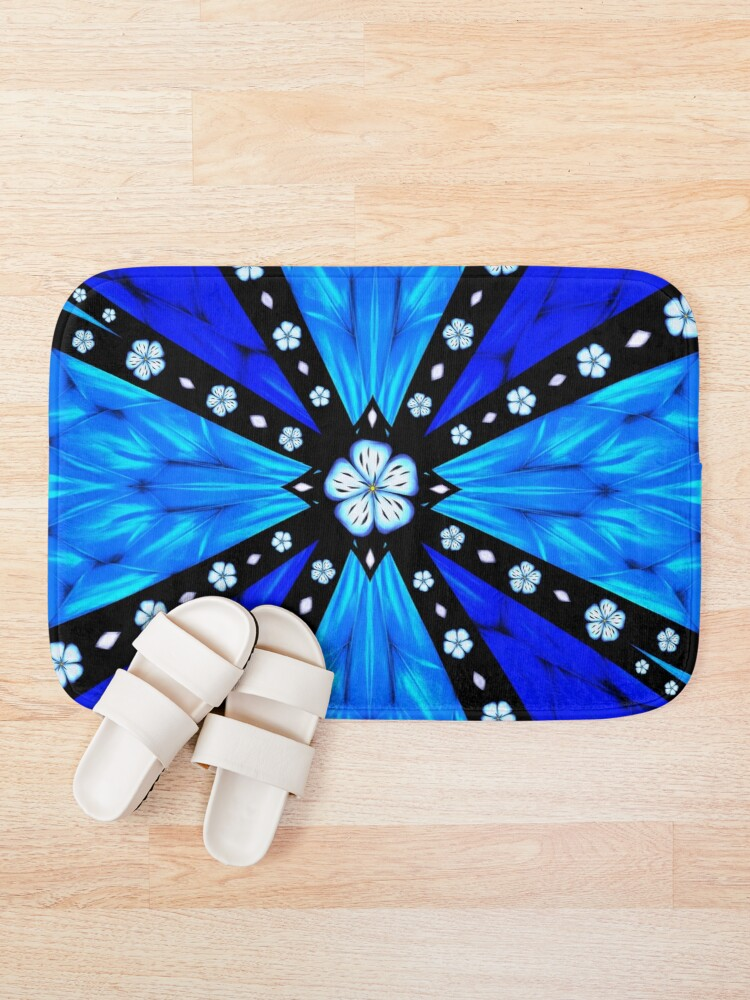Alternate view of Onyx Beams of Flowers and Gems Bath Mat
