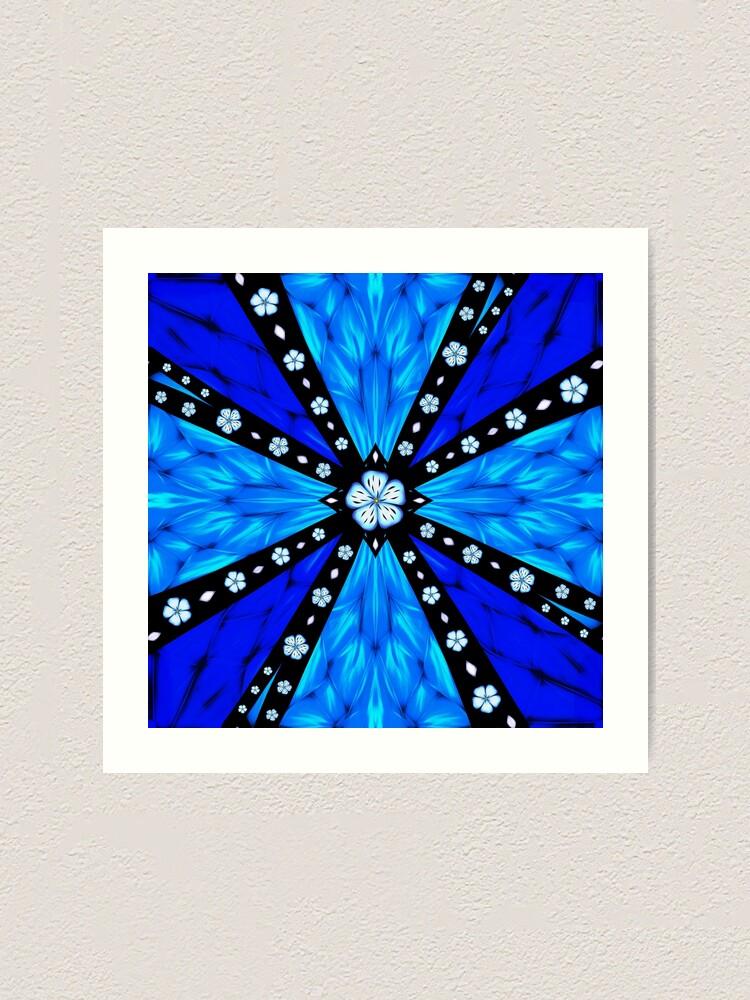 Alternate view of Onyx Beams of Flowers and Gems Art Print