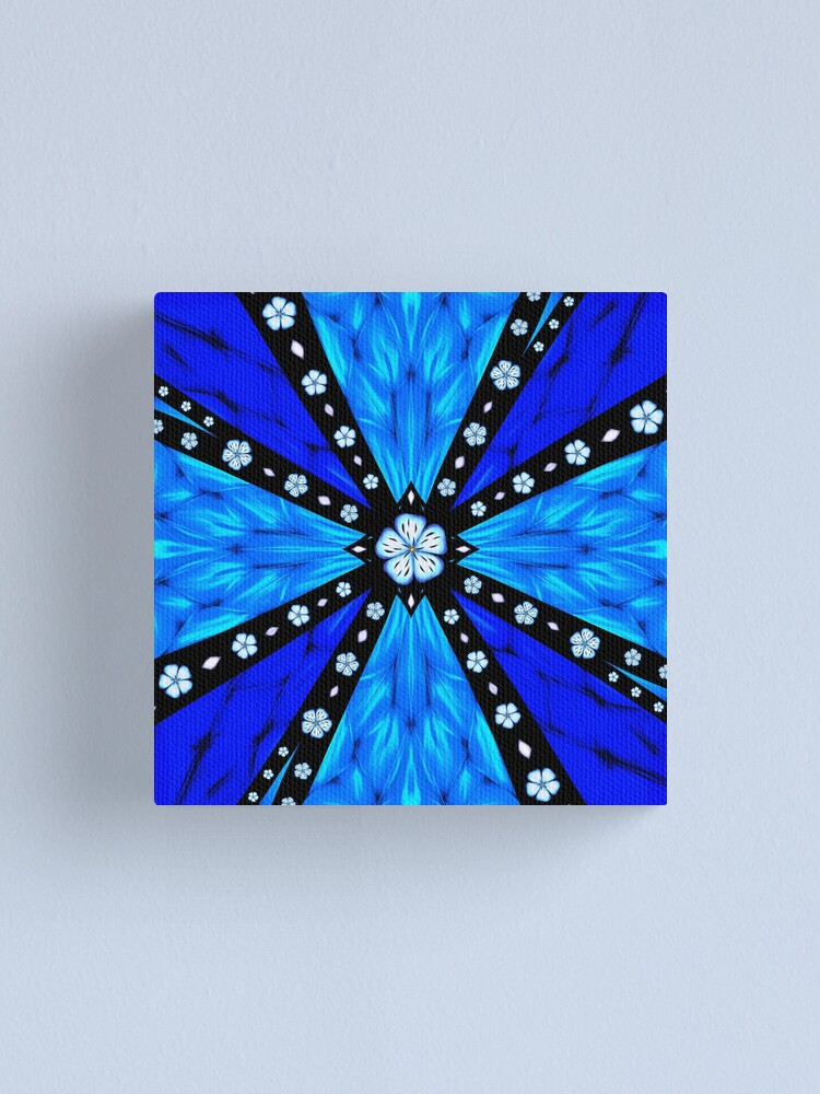 Alternate view of Onyx Beams of Flowers and Gems Canvas Print