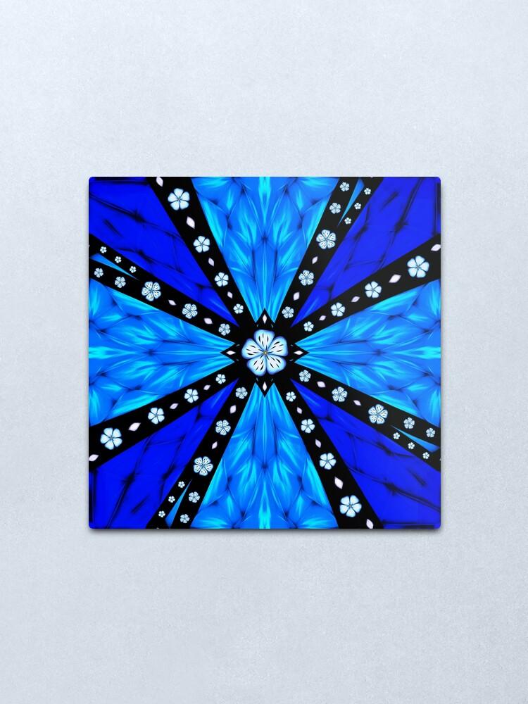 Alternate view of Onyx Beams of Flowers and Gems Metal Print