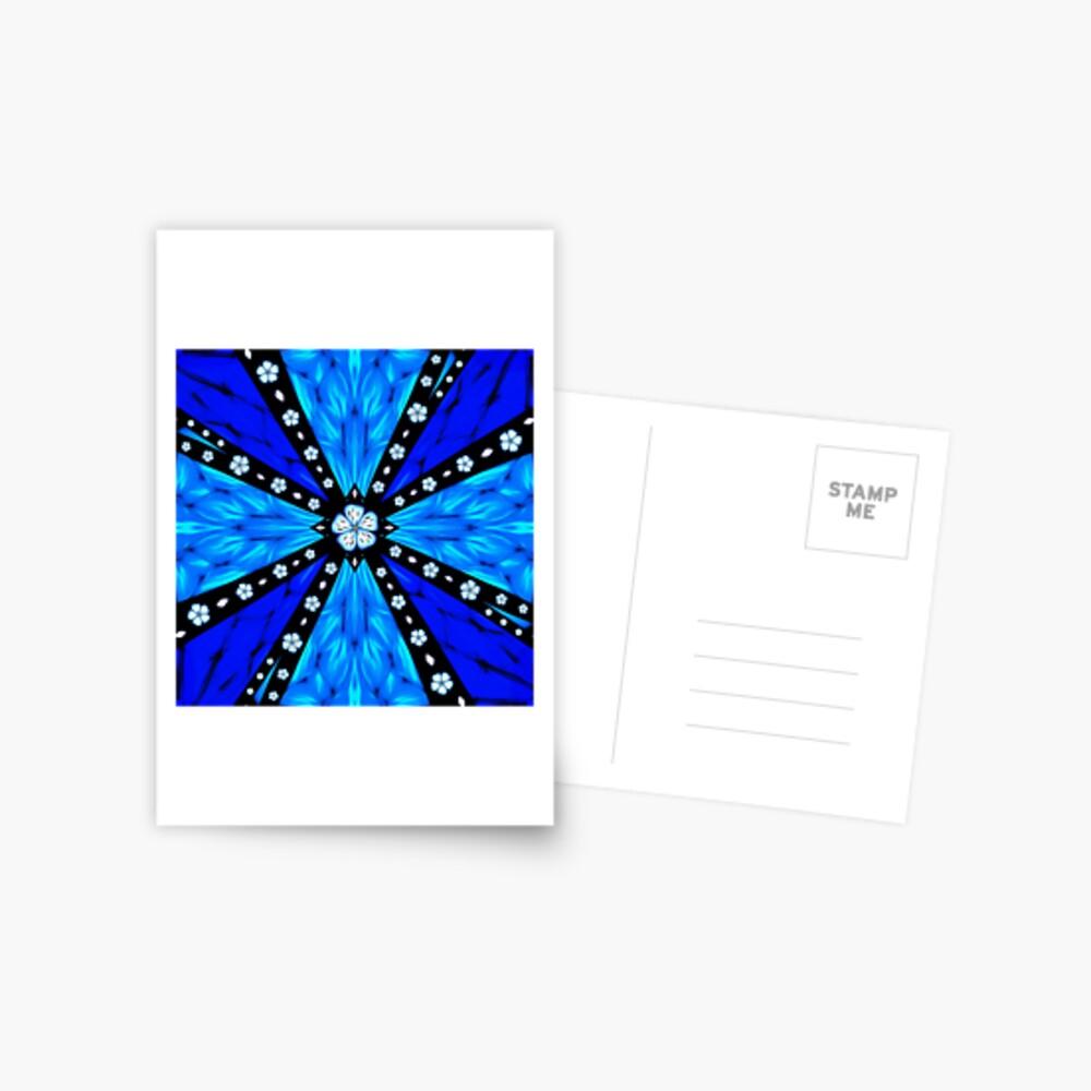 Onyx Beams of Flowers and Gems Postcard