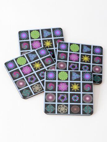 Beautiful colorful geometric shapes Coasters
