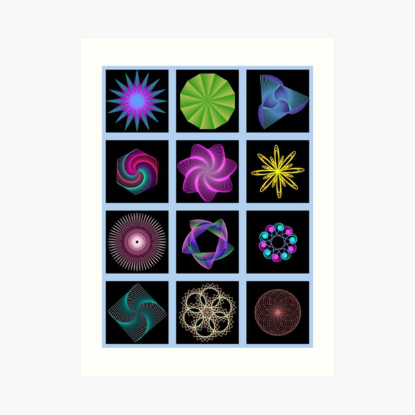 Beautiful colorful geometric shapes Art Print