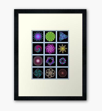 Beautiful colorful geometric shapes Framed Print