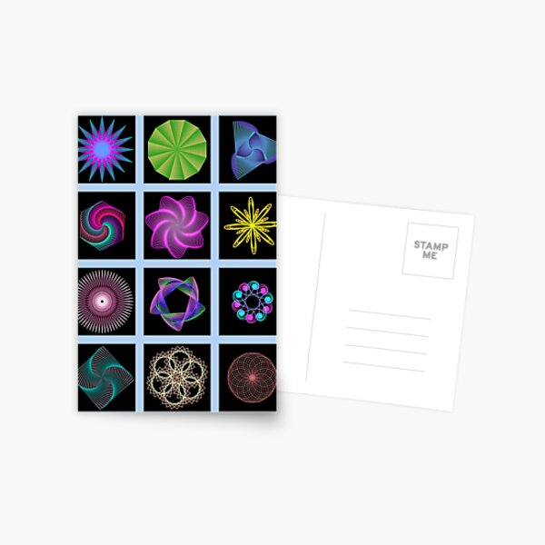 Beautiful colorful geometric shapes Postcard