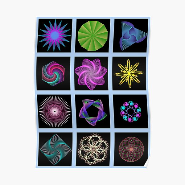 Beautiful colorful geometric shapes Poster