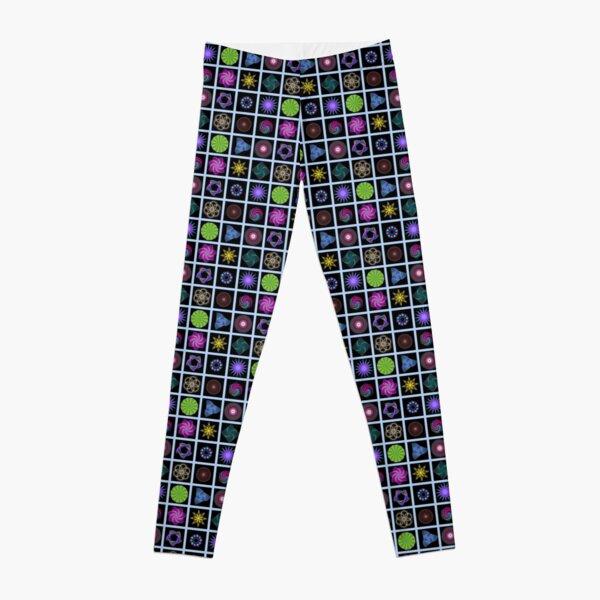 Beautiful colorful geometric shapes Leggings