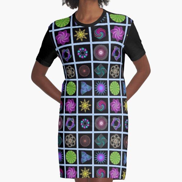 Beautiful colorful geometric shapes Graphic T-Shirt Dress