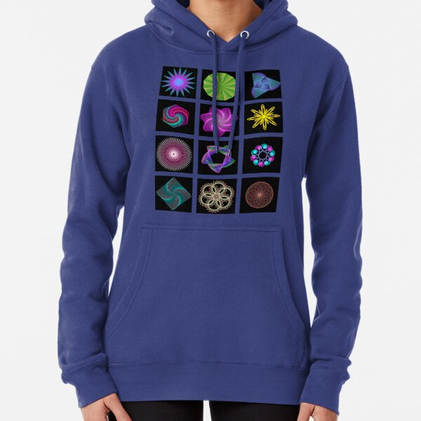 Beautiful colorful geometric shapes Pullover Hoodie