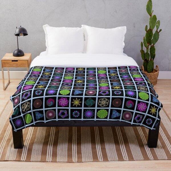 Beautiful colorful geometric shapes Throw Blanket
