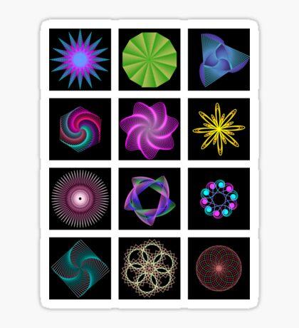 Beautiful colorful geometric shapes Sticker