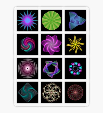 Beautiful colorful geometric shapes Transparent Sticker