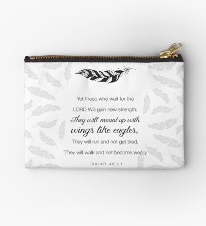 Like Wings on Eagles...Isaiah 40-31 Studio Pouch