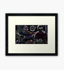 Two Guys in Crazy Neon Framed Print