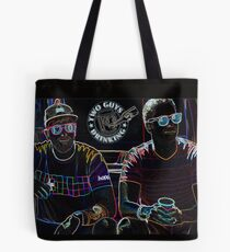 Two Guys in Crazy Neon Tote Bag
