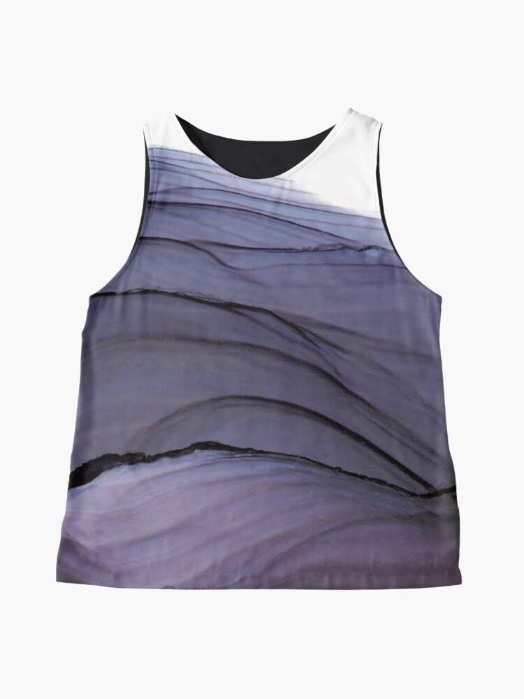 Alternate view of Eggplant Waves Alcohol Ink Painting Sleeveless Top