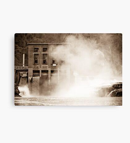 Kanawha Falls Vintage Landmark Canvas Print
