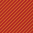 Stripes (Thin) - Red and Gold by Sarinilli