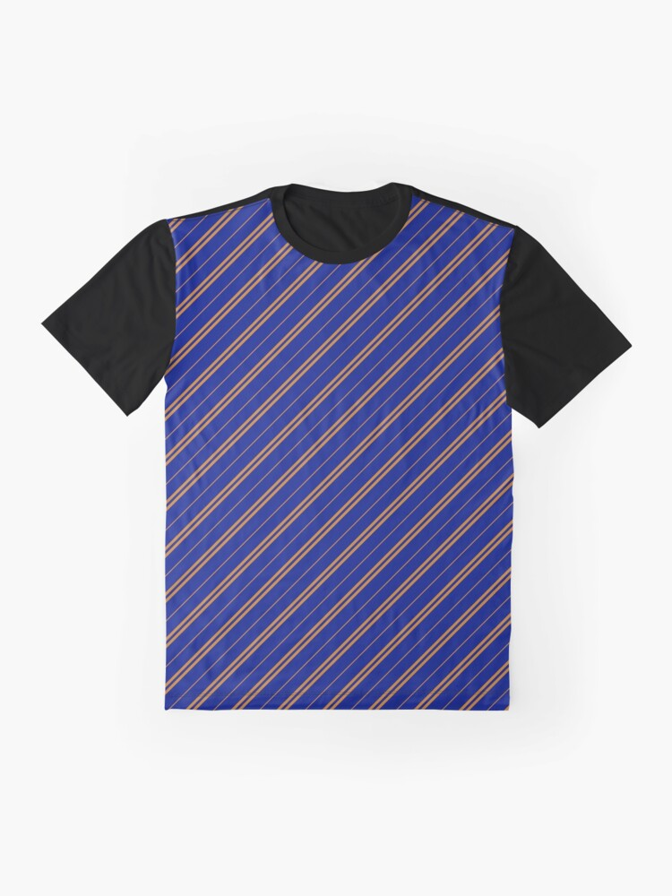 Alternate view of Stripes (Thin) - Blue and Bronze Graphic T-Shirt