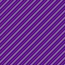 Stripes (Thin) - Violet and Pewter by Sarinilli