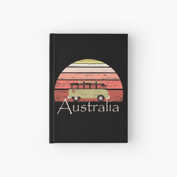 Australia Camping Vintage Travel Retro Gift Hardcover Journal