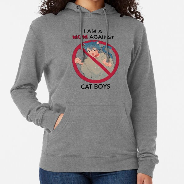 I AM A MOM AGAINST CAT BOYS Lightweight Hoodie