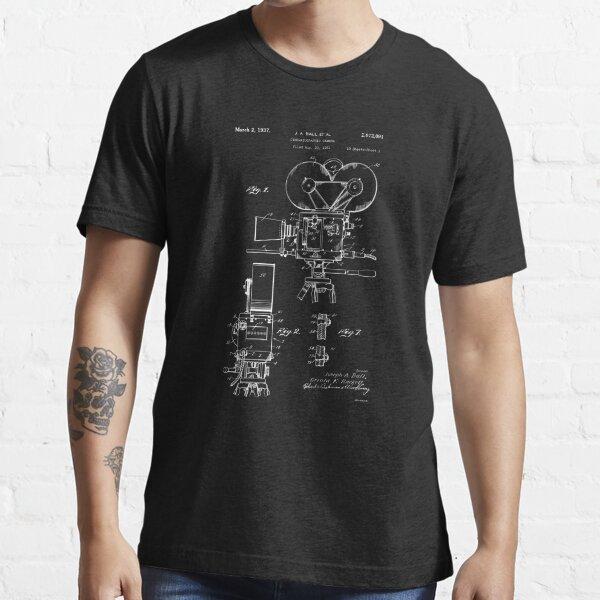 Moviemaker Film Camera Patent Drawings 1937 Essential T-Shirt