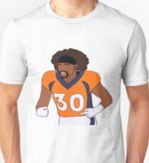 PHILLIP LINDSAY #30 DENVER BRONCOS Slim Fit T-Shirt
