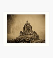 atmospheric view of a monument  Art Print