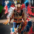 Chumash native American teen dancing by Eyal Nahmias