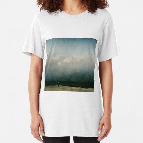 Caspar David Friedrich - Monk by the Sea Slim Fit T-Shirt