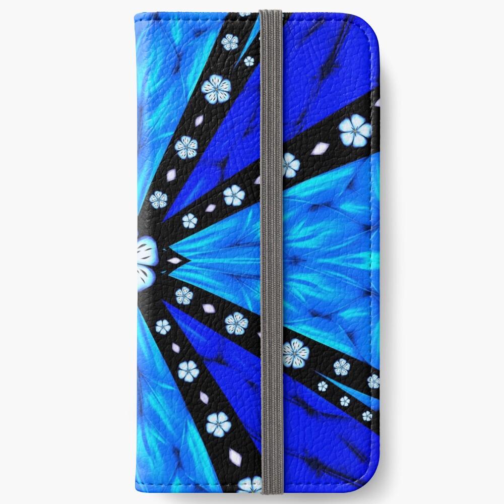 Onyx Beams of Flowers and Gems iPhone Wallet
