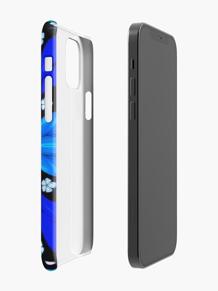 Alternate view of Onyx Beams of Flowers and Gems iPhone Case & Cover