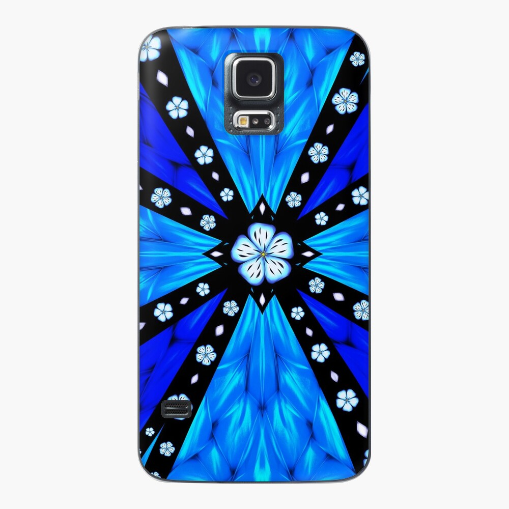 Onyx Beams of Flowers and Gems Case & Skin for Samsung Galaxy