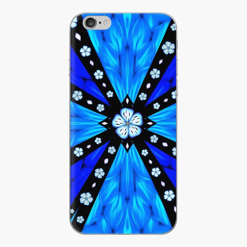 Onyx Beams of Flowers and Gems iPhone Skin