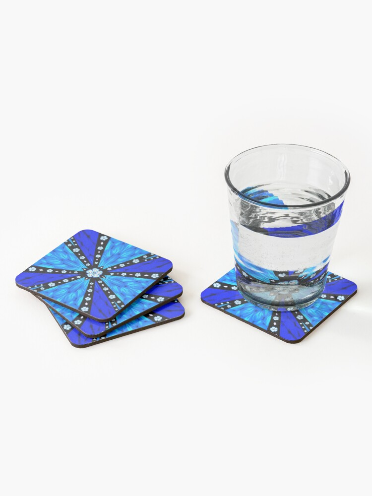 Alternate view of Onyx Beams of Flowers and Gems Coasters (Set of 4)