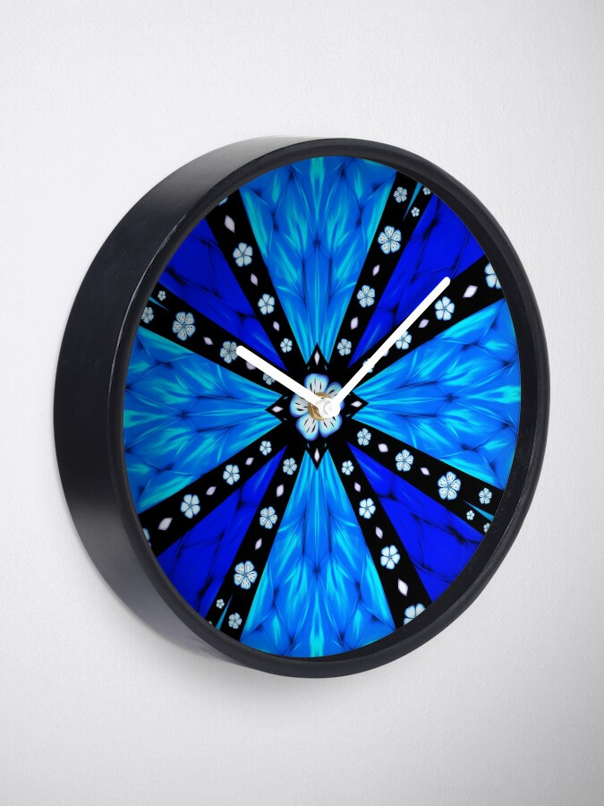 Alternate view of Onyx Beams of Flowers and Gems Clock