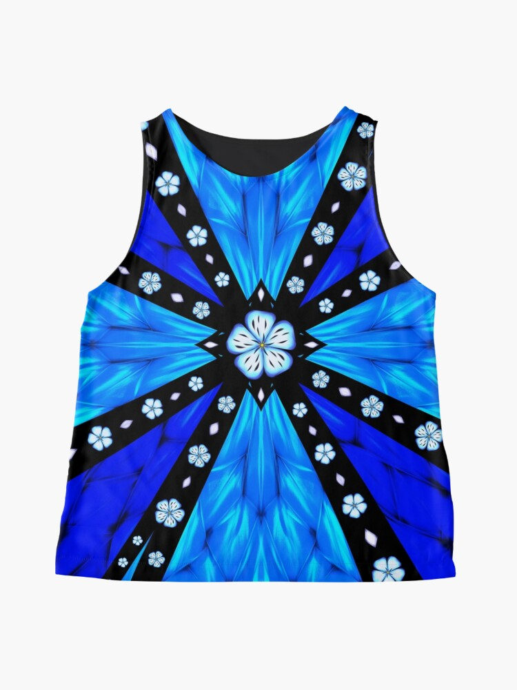 Alternate view of Onyx Beams of Flowers and Gems Sleeveless Top