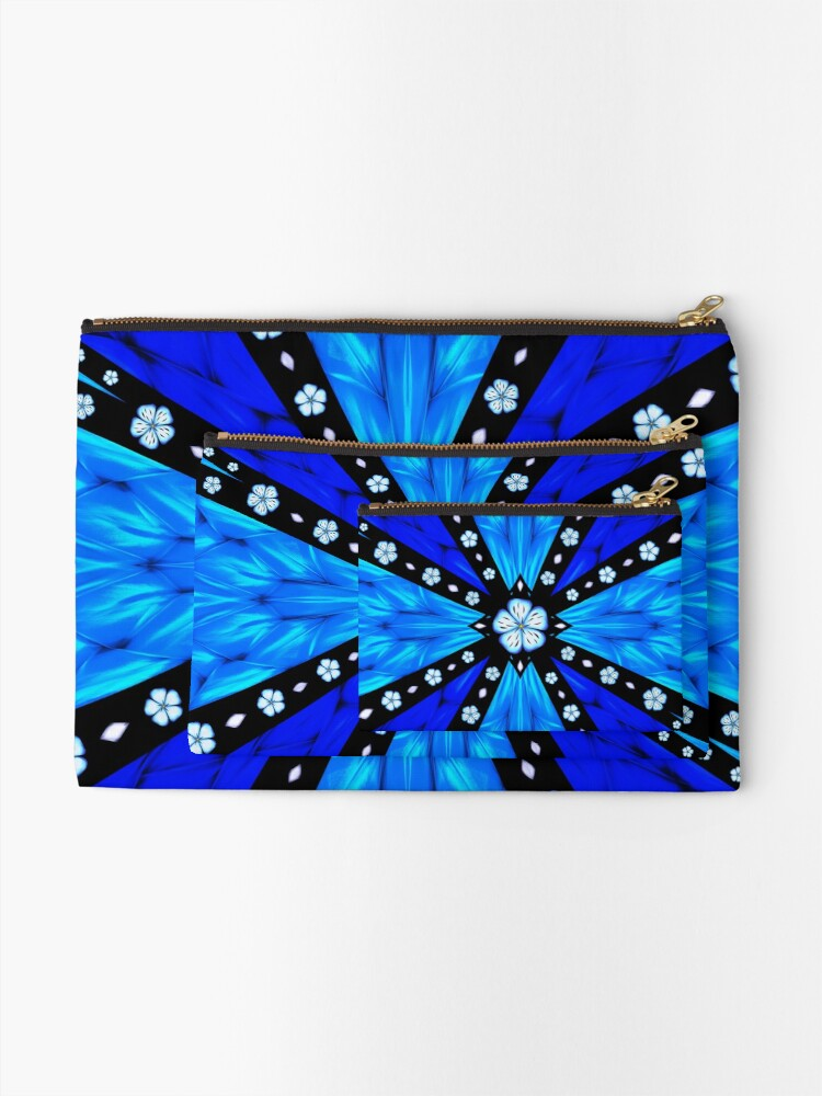 Alternate view of Onyx Beams of Flowers and Gems Zipper Pouch