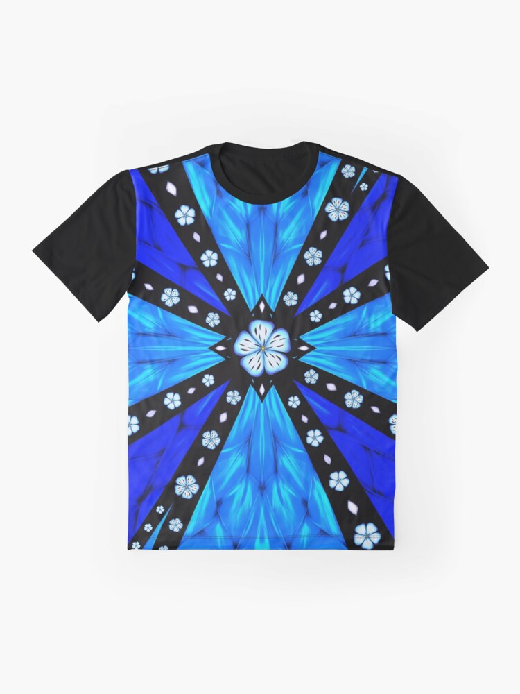 Alternate view of Onyx Beams of Flowers and Gems Graphic T-Shirt