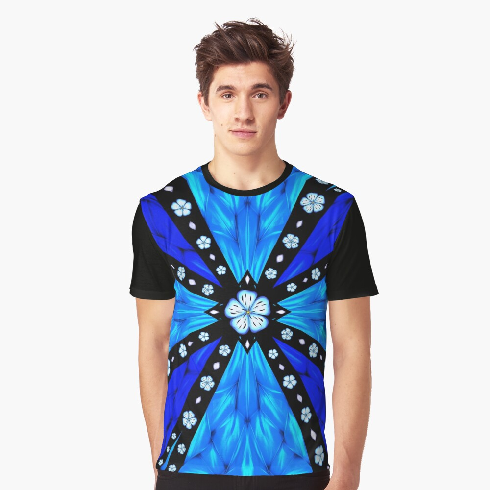 Onyx Beams of Flowers and Gems Graphic T-Shirt
