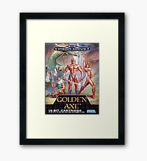 Golden Axe Mega Drive Cover Framed Print