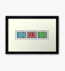 MMA Mixed Martial Arts Toe to Toe Triple Colour Print Framed Print