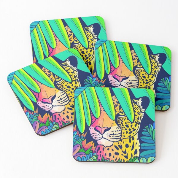 Jungle leopard Coasters (Set of 4)